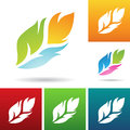 Feather icons vector eps illustration of colorful Stock Image
