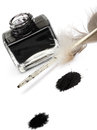 Feather pen set of abstract colour Royalty Free Stock Photo