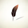 Feather pen stylized vector symbol Royalty Free Stock Images