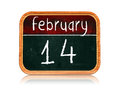 February 14 on blackboard banner Stock Photography