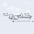February beautiful elegant text design for happy valentines day Stock Image