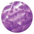 February Birthstone-Amethyst Royalty Free Stock Photography