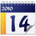 February calendar Stock Images