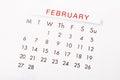 February 2017 calendar. Royalty Free Stock Photo