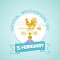 5 February  National Weatherman`s Day Royalty Free Stock Photo
