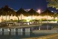 February night in sharm el sheikh egypt ennobled territory of the hotel beach albatros resort Royalty Free Stock Photos