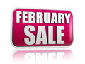 February sale in purple banner Royalty Free Stock Photo