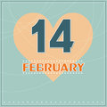 February vector greeting valentines day card Royalty Free Stock Images