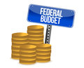 Federal budget coins Stock Photos
