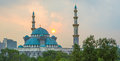 The federal territory mosque malaysia ii at sunrise Stock Photography