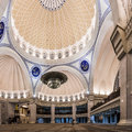 Federal territory mosque or masjid wilayah persekutuan the interior of the a major in kuala lumpur malaysia Stock Photos