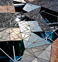 Federation square design metal in melbourne australia Royalty Free Stock Photography