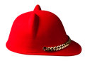 Fedora hat. hat isolated on white background . red hat Royalty Free Stock Photo
