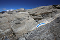 Fee glacier in saas switzerland Royalty Free Stock Photo