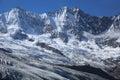 Fee glacier in saas switzerland Stock Image
