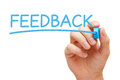 Feed back konzept Stockbild