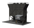Feed hopper d render of a industrial isolated on white Royalty Free Stock Image