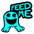 Feed me creative design of message Stock Photos