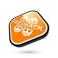 Feedback button Royalty Free Stock Image