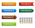 Feedback button, label or badge. Royalty Free Stock Photos