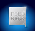 Feedback button pointer illustration design graphic over blue Royalty Free Stock Image