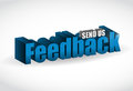 Feedback d blue sign illustration design over white Stock Images