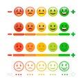 Feedback Emoticon bar. Feedback Emoji.