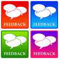 Feedback giving or receiving at work or in life Royalty Free Stock Photography