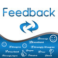 Feedback with keywords - Blue Royalty Free Stock Photography