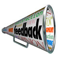 Feedback Megaphone Bullhorn Opinion Sharing Royalty Free Stock Photo