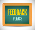 Feedback please sign illustration design over a white background Royalty Free Stock Image
