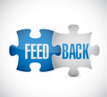 Feedback puzzle pieces illustration design over a white background Royalty Free Stock Photography