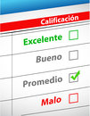 Feedback selection concept in Spanish Royalty Free Stock Photography