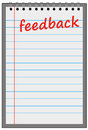 Feedback sheet providing or getting the necessary Royalty Free Stock Photography