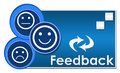Feedback Three Circles Royalty Free Stock Photo
