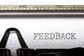 Feedback title printed on a typewriter Royalty Free Stock Images