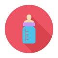 Feeding bottle flat icon