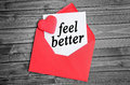 Feel better word Royalty Free Stock Photo