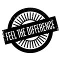 Feel The Difference rubber stamp Royalty Free Stock Photo