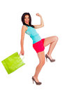 Feeling awesome after shopping excited woman great expressing positivity Royalty Free Stock Photography