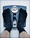 Feet Bathroom Scales Weight Loss Royalty Free Stock Photo