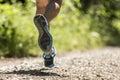Feet of a jogger Royalty Free Stock Photo