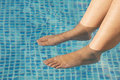 Feet refreshing Royalty Free Stock Photo