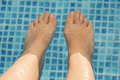 Feet refreshing Stock Photography