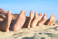 Feet relax at beach Royalty Free Stock Photo