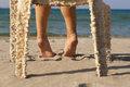Feet on the sand Royalty Free Stock Images