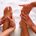 Feet and SPA Royalty Free Stock Photography