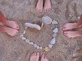 Feet, summer, love