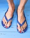 Feet Thongs Flip Flops Sandals Royalty Free Stock Photo