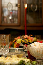 Feiertags-Mahlzeit-Tabelle Lizenzfreie Stockfotografie